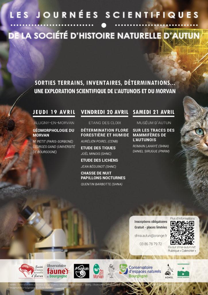 Affiche des Journées Scientifiques de la Société d'histoire naturelle d'Autun (Bourgogne)
